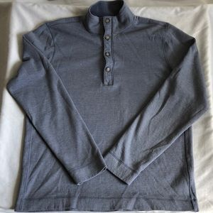 Banana Republic Zip Up Button Up Mock Pullover